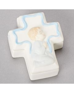 Boy Cross Box with Rosary