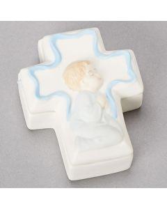 Boy Cross Box with Rosary