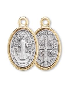 Gold Rimmed Silve St Benedict