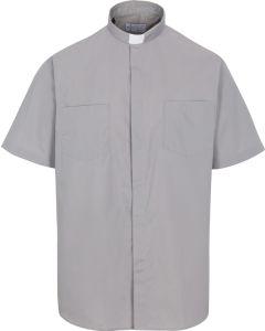 Short Sleeve Grey Tab Shirt 35% cotton 65% poly