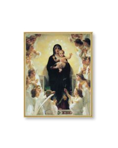Virgin with Angels Bouguereau Plaque