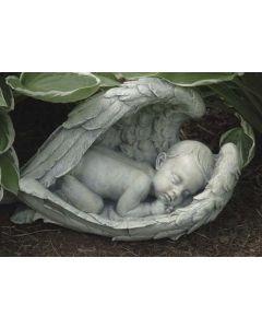 Baby in Wings Garden Statue