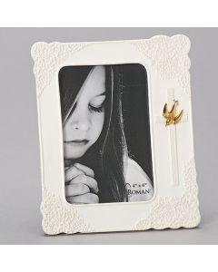 "7.75""H Glazed Lace Frameholds 4x6 Photo"