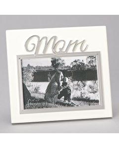 "7""H Mom Ivory Frame - Hold 4x6"