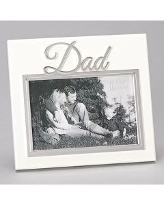 "7""H Dad Ivory Frame - Hold 4x6"