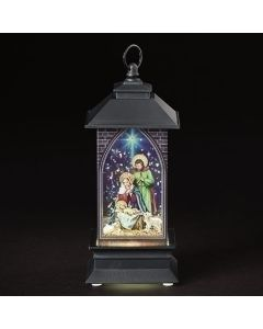 "5"" Haly Family Painted Lantern"
