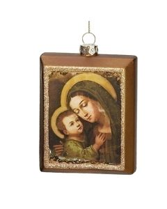 "4.5"" Mary and Jesus Ornament"