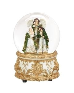 "5.75"" Glitterdome Holy Family"
