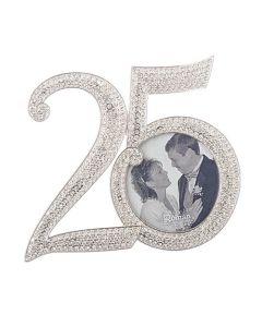 "4.25""h 25th rhinestone frame"