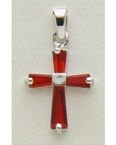 """.5""""Jan B'stone Cross Pendant"""