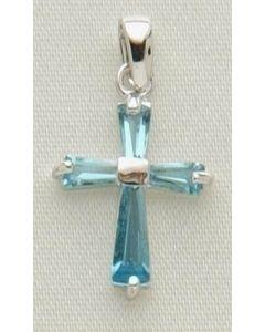 """.5"""" Mar B'stone Cross Pendant"""