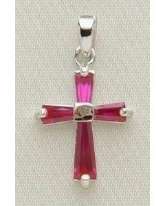 """.5"""" Jul B'stone Cross Pendant"""