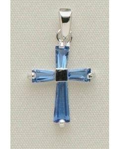 ".5"" Sep B'stone Cross Pendant"