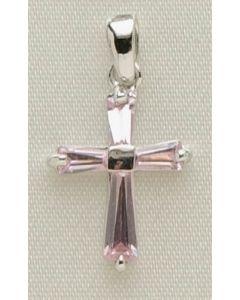 ".5"" Oct B'stone Cross Pendant"