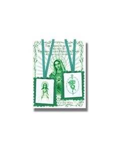 Green Scapular W/Instruction Pamphlet