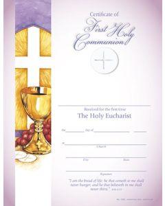 Communion Certificate W/Lines (25 Pkg)