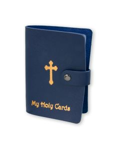 Blue Holy Card Folder