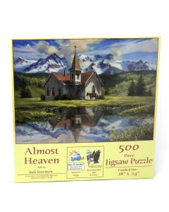 "Almost Heaven 500 piece puzzle, 18"" x 24"", Artwork by Jack Sorenson"