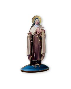 St Therese cut wood Statuette