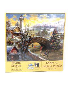 "Joyous Season 1000 pc. Puzzle-23""x28"". Art by Nicky Boehme."