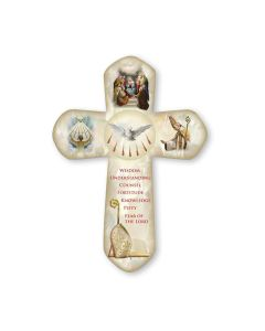 Pearlized Confirmation Cross 6