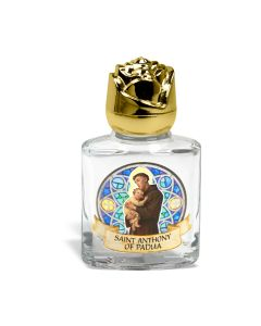 St Anthony Glass Holy Water Bo