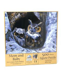 """Mom and Baby 500 pc puzzle - 18"""" x 24"""" - Artist: Laura Mark-Finberg"""