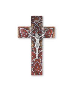 "10"" Sunset Glass Cross/Corpus"