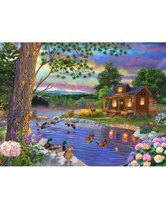 "Peace River 1000pc puzzle - 20"" x 27"" - Artist: Bigelow Illustrations"