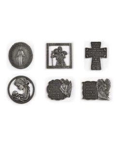 Religious Visor Clips 6 Asst