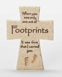 "4 ""H Footprints Cross"
