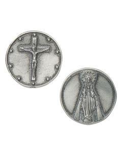 """1.25"""" Rosary Pocket Token"""