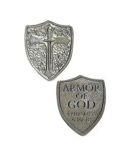 "1.25""Armor Of God Shield Token"