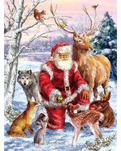 """Santa's Menagerie 1000 pc puzzle - 20"""" x 27"""" - Artist: Marcello Corti"""