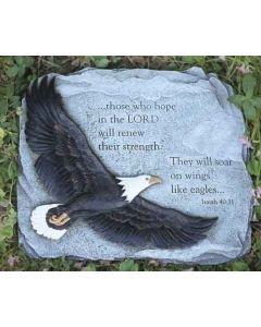 """11"""" Eagle Wings Garden Stone"""