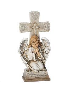 "14.5""H Angel With Cross"