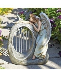 """10.75"""" angel with chimes"""