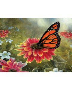 "Monarch Butterfly 500 pc puzzle - 18"" x 24"" - Artist: Jim Hansel"