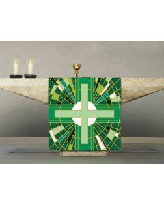 Digital Printed Altar Cover Green