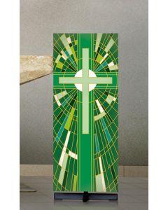 Digital Printed Lectern Cover Green