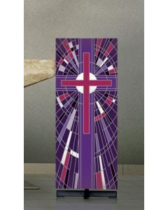 Digital Printed Lectern Cover Purple