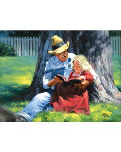 "Grandpa's Bible 500 piece puzzle, 18"" x 24"", Artwork by Jack Sorenson"