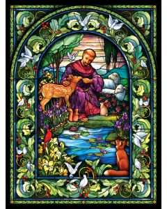 St Francis 1000 Puzzle 20x27 inches, Art by Randy Wollen