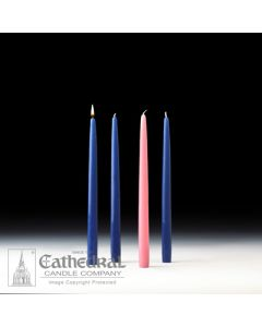 "Advent Tapers 4/Box 12"" 3b,1r"