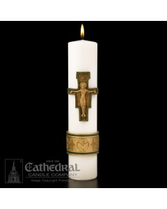 Christ Candle Cross St Francis