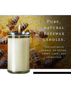 3-Day 100% Beeswax Candle