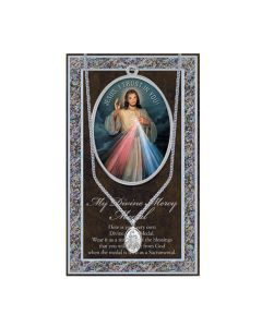 Divine Mercy Medal with Chain Fol