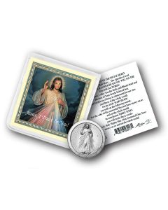 Divine Mercy Coin In Clr Fld with card
