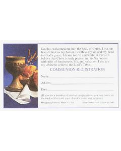 Record of Communion Cards