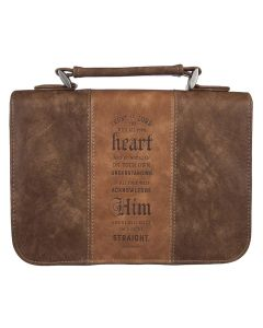 Classic Bible Cover LG Brown Trust In The Lord Pr
